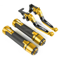 Motorcycle Adjustable Folding Brake Clutch Levers Handlebar Hand Grips FOR YAMAHA YZF R1 2002-2003 YZF R6 1999-2004 YZF 600R