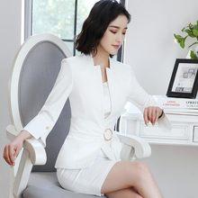 Женский облегающий костюм-двойка, Офисная форма без рукавов, пиджак, платье с поясом, 2020(Китай)