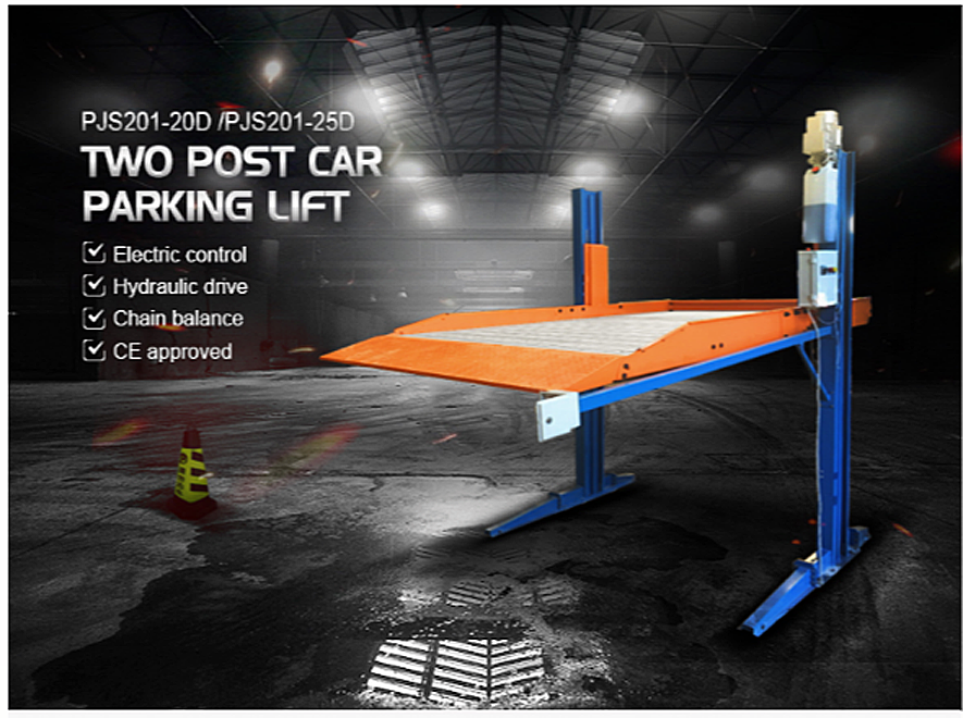 lifting height 2.3t parking garage hydraulic two post car parking stacker