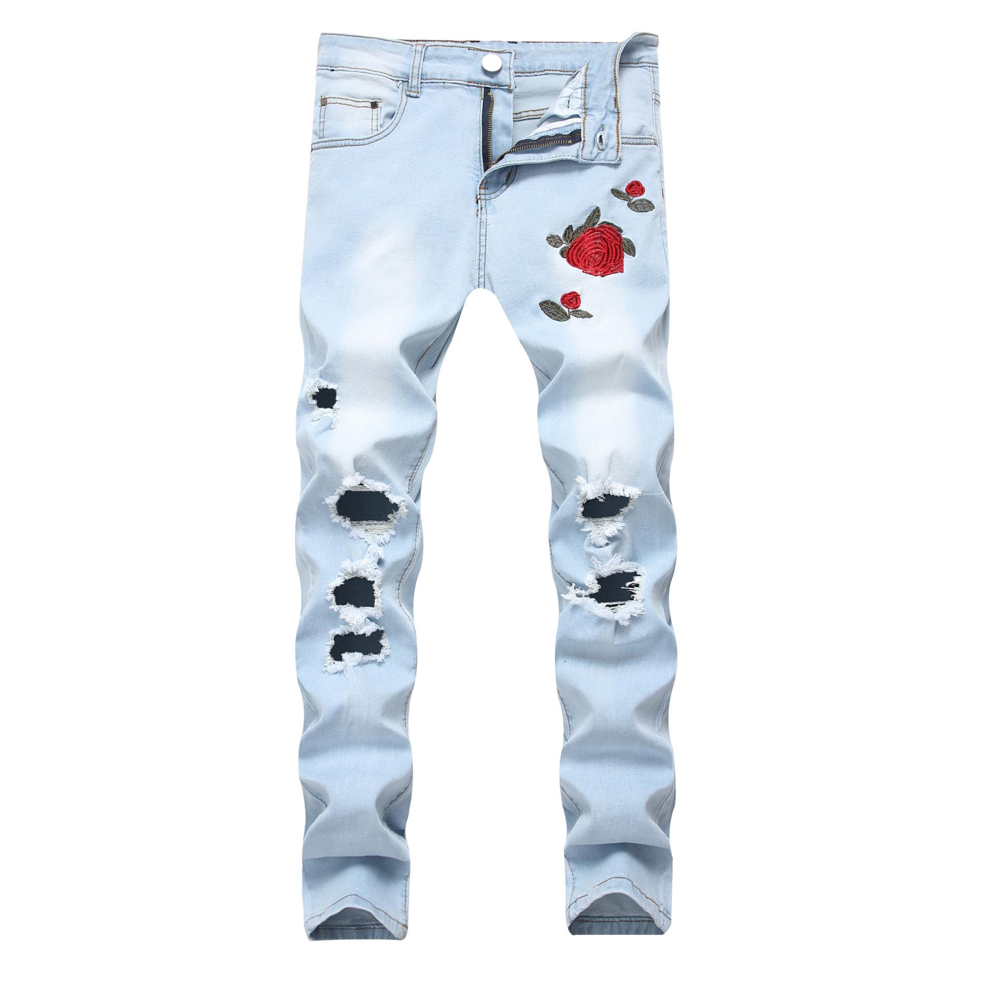 americana y pantalon de hombre de flores
