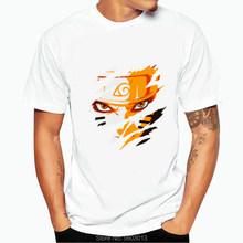 Забавная футболка аниме Наруто, Харадзюку, Саске, винтажная симпатичная мультяшная футболка, хип-хоп, персонализированная графическая футб...(Китай)