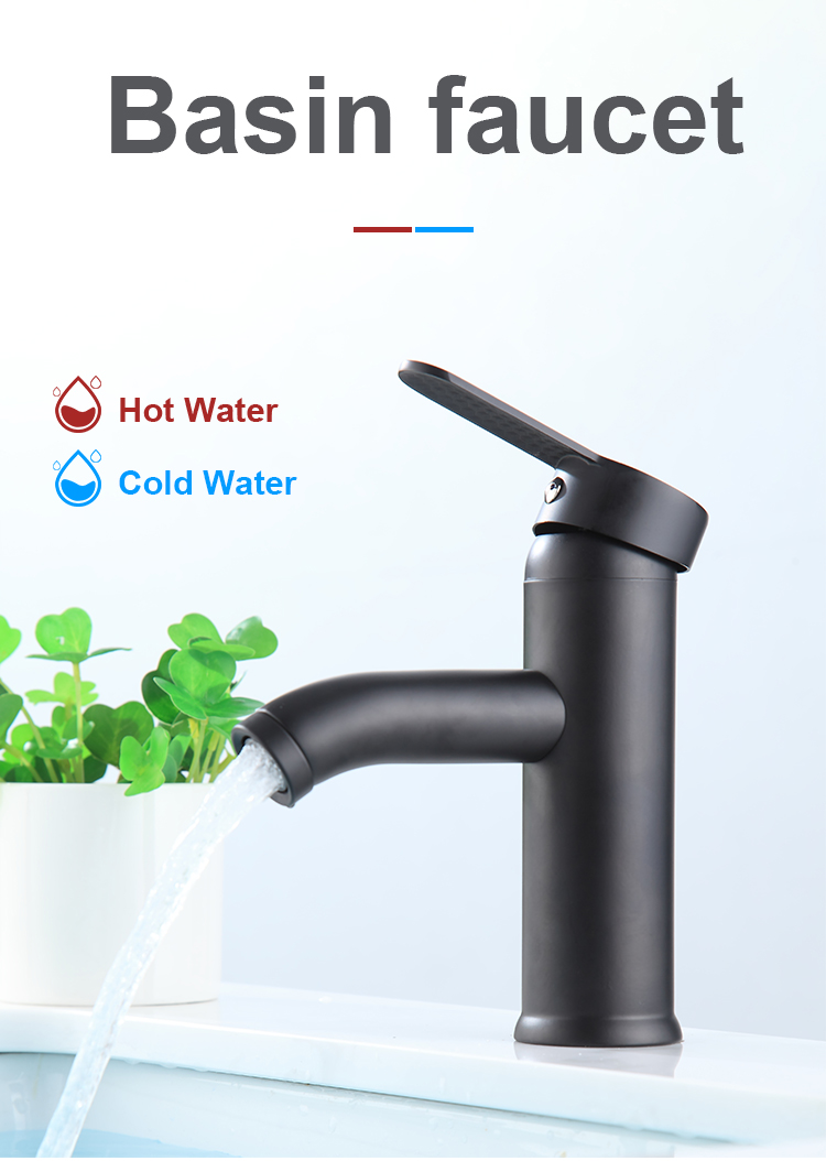 Bathroom Kitchen Basin Faucet Cold & Hot Water Mixer Tap Single Handle Sink Brass faucets & taps