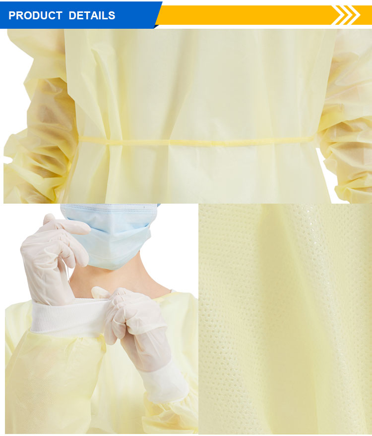 over 20 years experience factory OEM level 1 pp sms Non-Woven disposable coverall isolation gowns - KingCare | KingCare.net