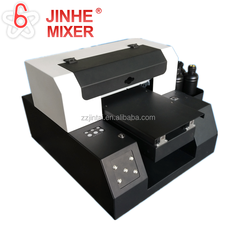 UV flatbed printer A3 A4 UV Printer voor Telefoon geval Acryl T-shirts Metalen materialen