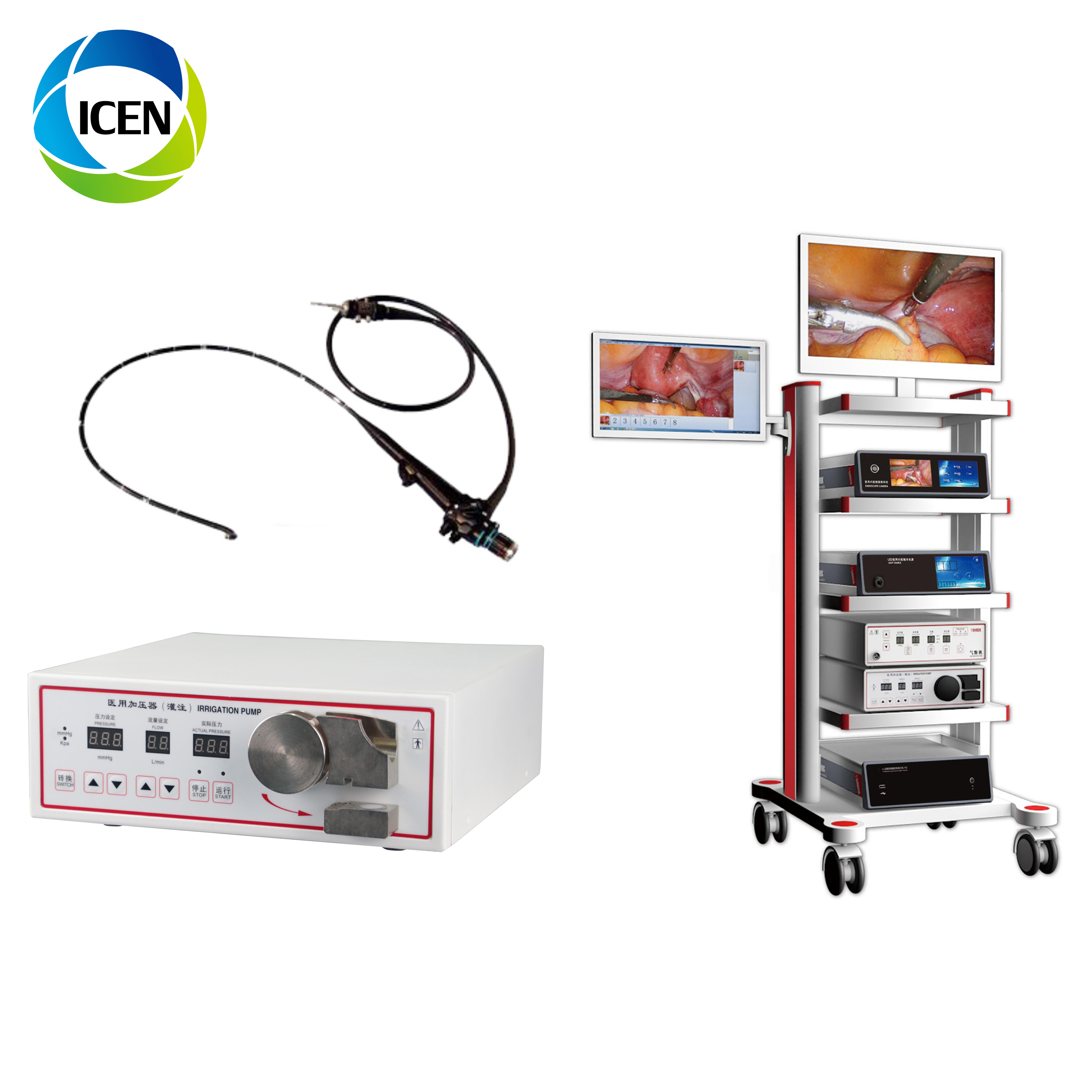 IN-P007  portable hotsale newest  flexible endoscope video gastroscope system