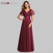 Платье для выпускного бала Ever Pretty EP07962, синее, с треугольным вырезом, длинное, Формальное, летнее, вечернее платье большого размера 2020(China)
