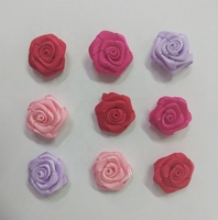 satin ribbon rose trim