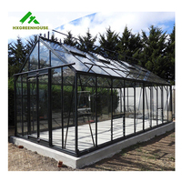 Wind resistant prefabricated one stop gardens greenhouse parts greenhouse victorian glass green house single-span greenhouses