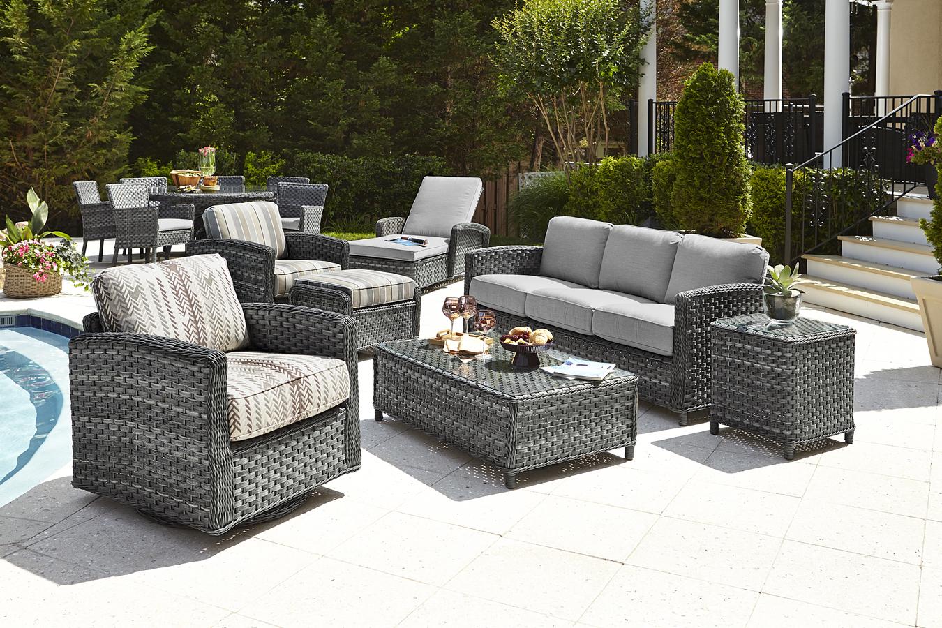 Luxury Rattan / Wicker Outdoor Furniture Sofa-set - Buy Rattan