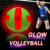 2020 Glow in the dark light up PVC glow volleyball with LED 2 lights LR44 battery 72 hours lighting