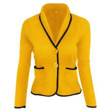 Женские блейзеры и куртки черного размера плюс, кардиган, куртка, теплый костюм, Офисная элегантная накидка, блейзер Femme 2020, винтажное пальто(Китай)
