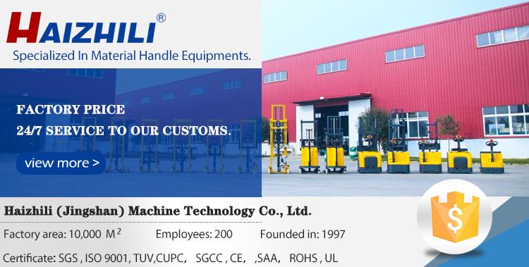 Haizhili Handling Apparatuur Beweegbare 1000Kg Laden Capaciteit Elektrische Lift Tafel Hydraulische