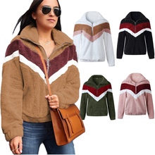 Femmes Zip Manches Longues Sherpa Pull Femmes Chaud Ours Polaire Outwear Manteau Pull Top Pull Chemisier Pull
