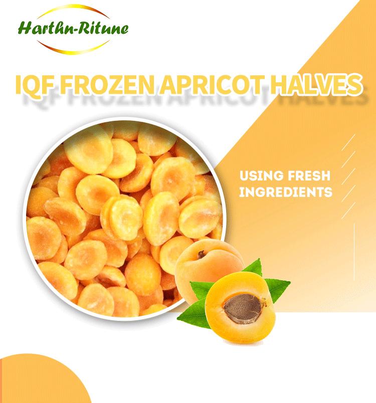 IQF frozen apricot halves diced