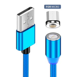 Factory OEM 3A Strong Magnetic USB Micro Android Charging Cable Fast Charge Cable for Phone Android System