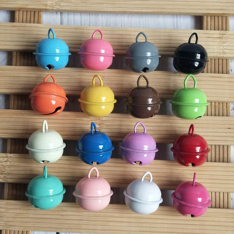 Color Christmas bell color plating DIY jewelry clothing accessories open word metal bell
