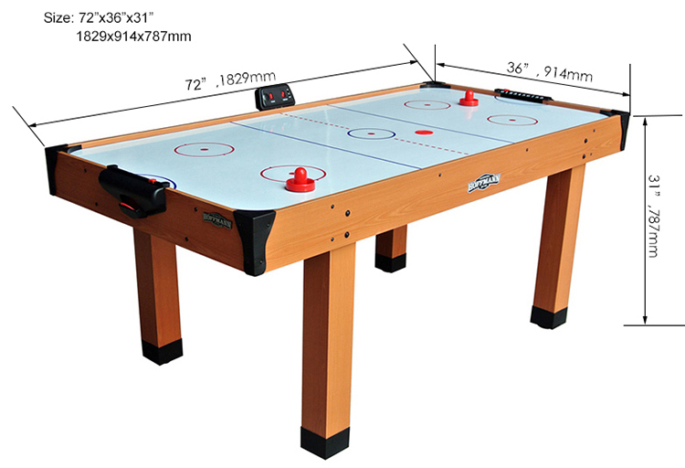 SZX 6ft Superior 3 person air hockey table for sale