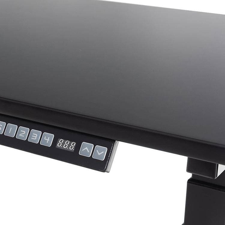 オフィスや家庭や勉強使用人間工学電気デュアルモーターの高さ調整可能なリフト座るスタンド黒オフィスデスク