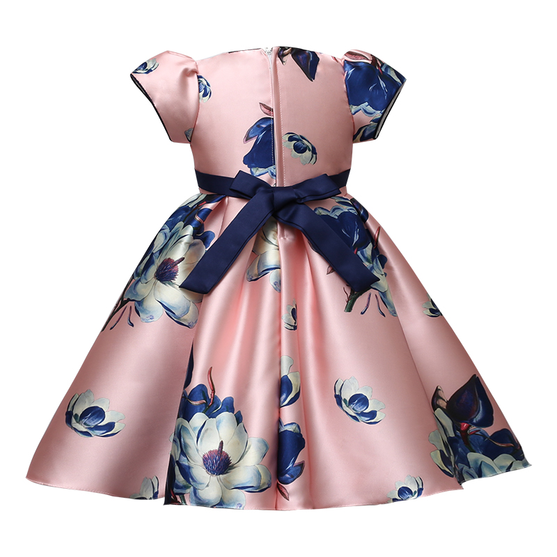 Summer Latest Western Pattern Design Party Wear Kid Children Girl Dress For Kid Girl