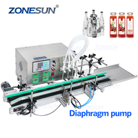 ZONESUN Semi Automatic Desktop CNC Liquid Filling Machine With Conveyor 110V-220V For Perfume Filling Machine Water Filler