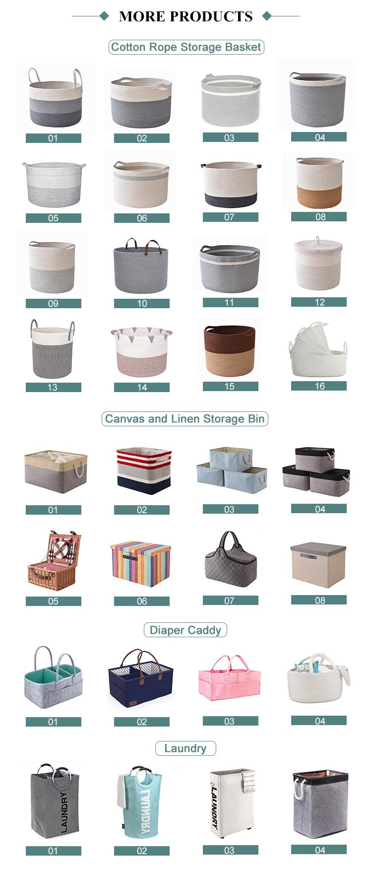De moda personalizado de almacenamiento y organización de tela plegable juguete caja de almacenamiento Amazon mejor venta de productos de almacenamiento de contenedores