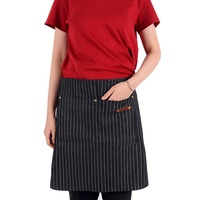 Custom black waitress half waist apron