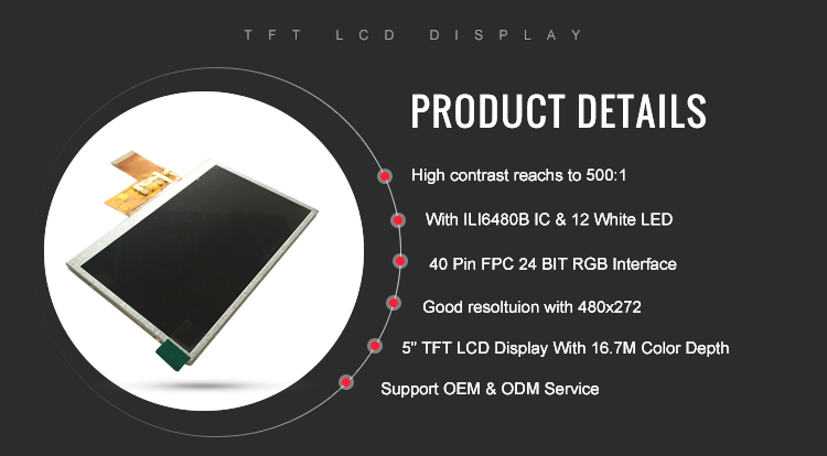 tft lcd display 480x272 resolution