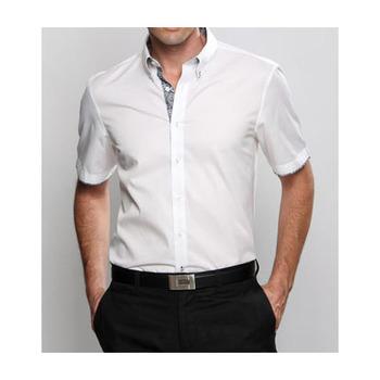 Pria Kemeja Kemeja Pria Tombol Up 3 4 Lengan Desain Lengan Pendek Katun Polyester Kemeja Putih Buy Pria Tombol Up 3 4 Lengan Kemeja Kemeja Putih