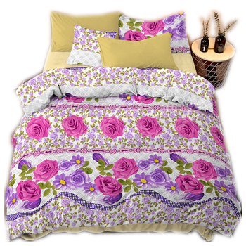 Factory direct sale low price bedsheets duvet cover sets printed double size 100% polyester bed sheets