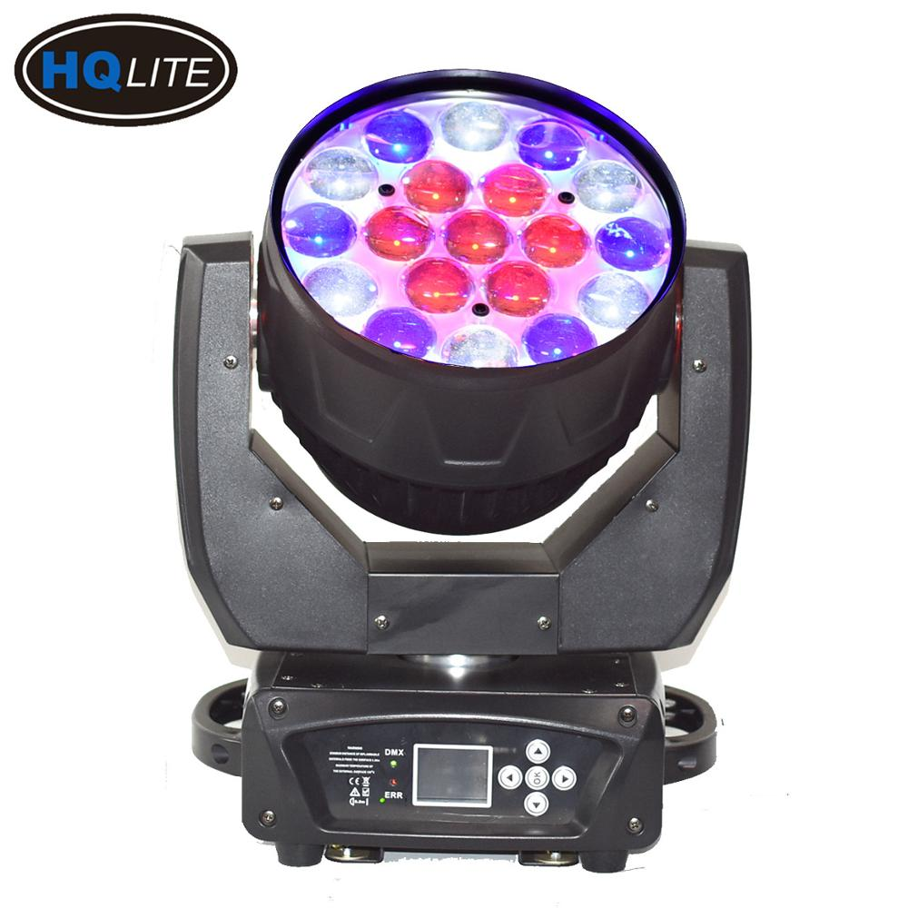 19 DMX Wash Zoom 4in1 RGBW Aura 19x15w LED Moving head
