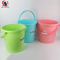 high quality barrel multifunction recycled water pail plastic bucket with handle for bathroom