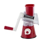 Kitchenware set drum Spiral Manual Plastic slicer grater with 3 Stainless Steel Drums Blades