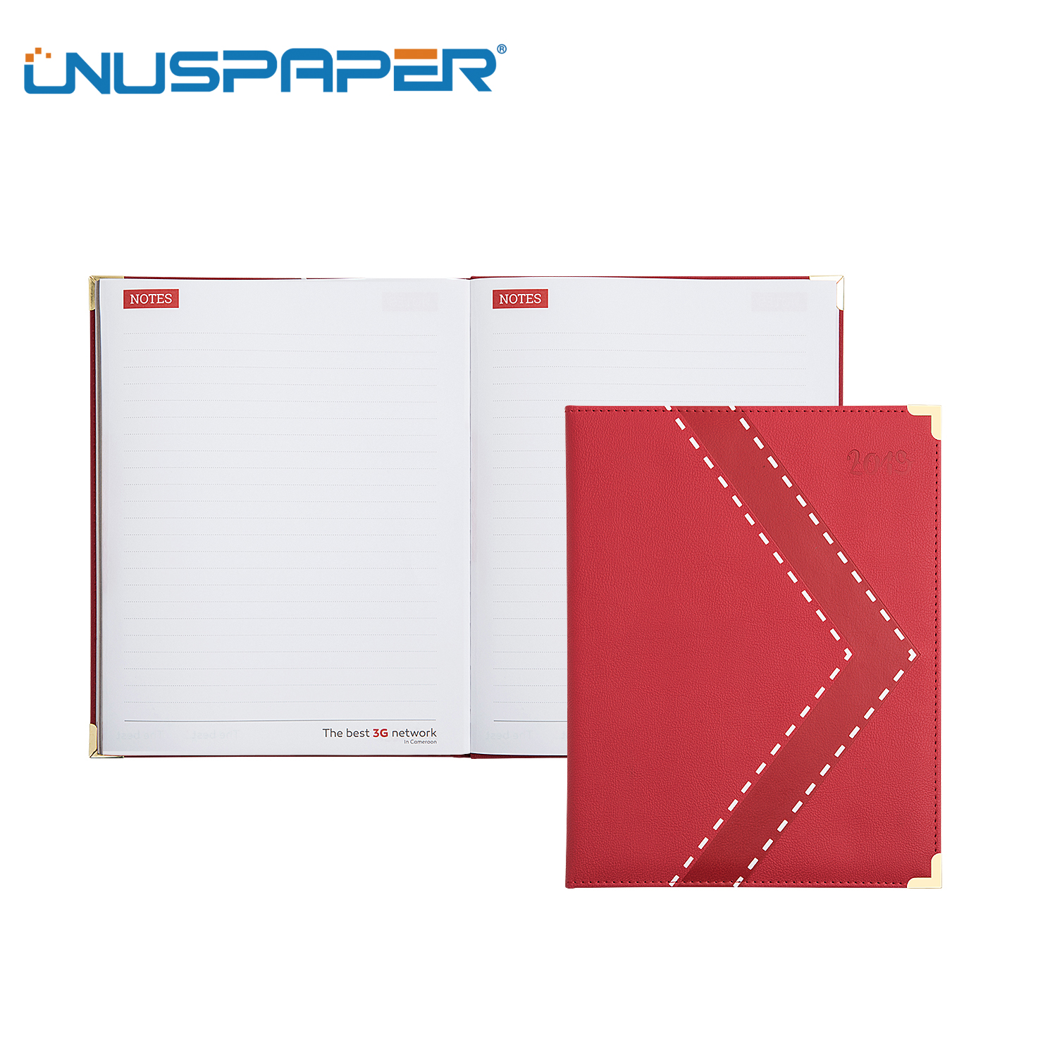 FSC Customized A4 PU Notebook For Company Promotion
