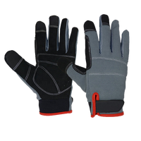 PRI touch screen microfiber hand gloves anti vibration multi purpose work safety gloves