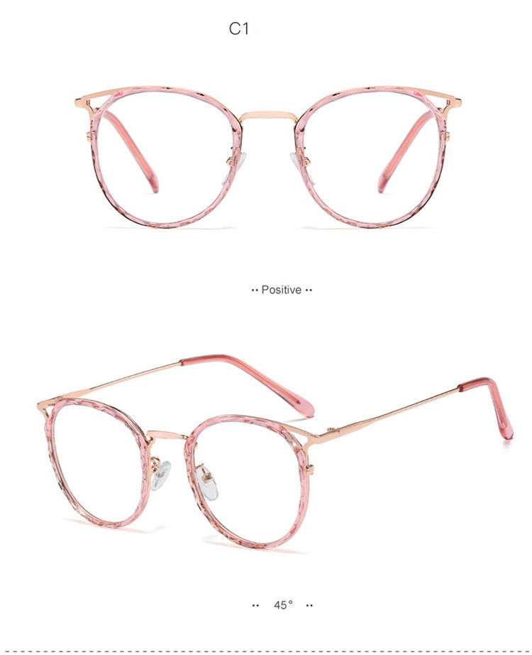 2020 Fashion Women Glasses Frame Brand Men Eyeglasses Frame Vintage Clear Glasses Optical Spectacle Frame Transparent