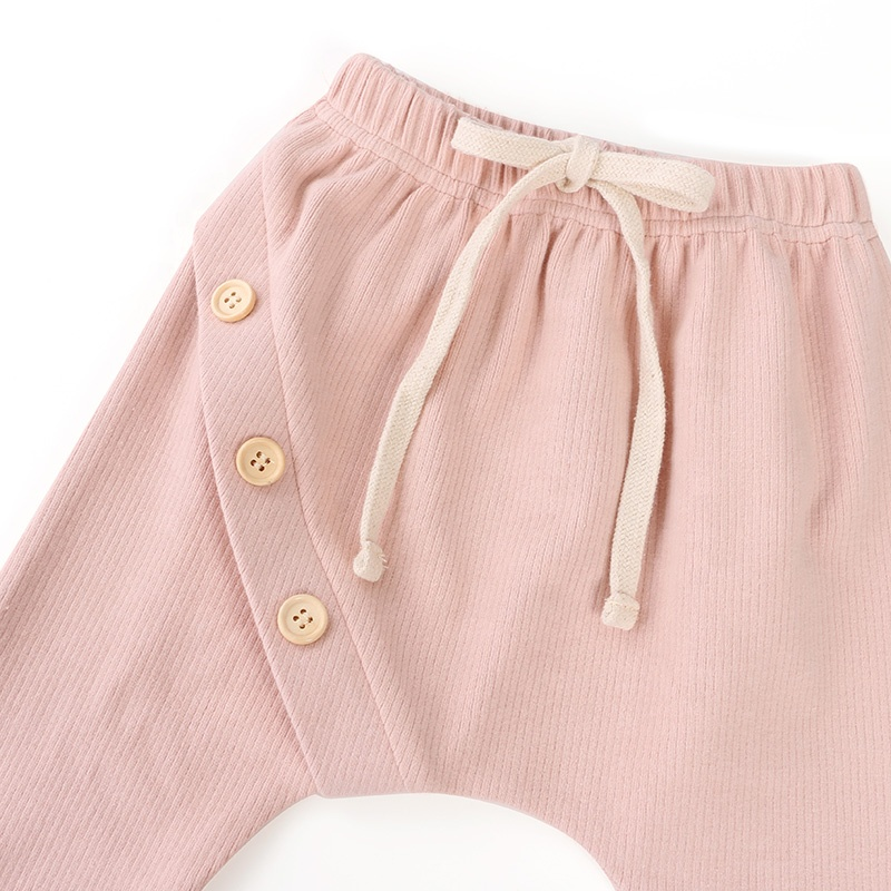 New design  high quality  children clothing trousers and infant  cotton fabric pink baby girls pants