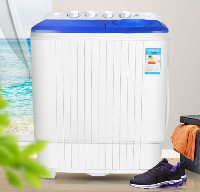 6.8kg double bucket shoe washer small household shoe brush shoe washing machine with swing dry dehydration