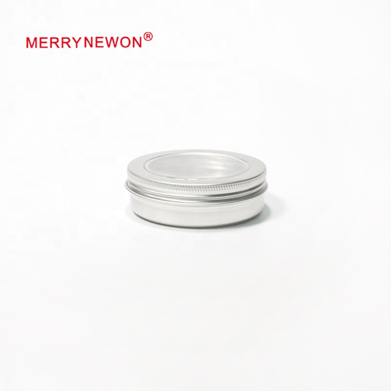 100ml bulk aluminum tin with lid with clear window /round tin box/body butter jars/small metal tins- 100ml 8328Kmm