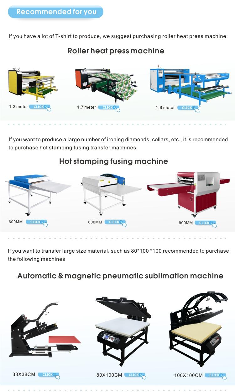 좋은 가격 맞춤형 t 셔츠 열 프레스 기계 전송