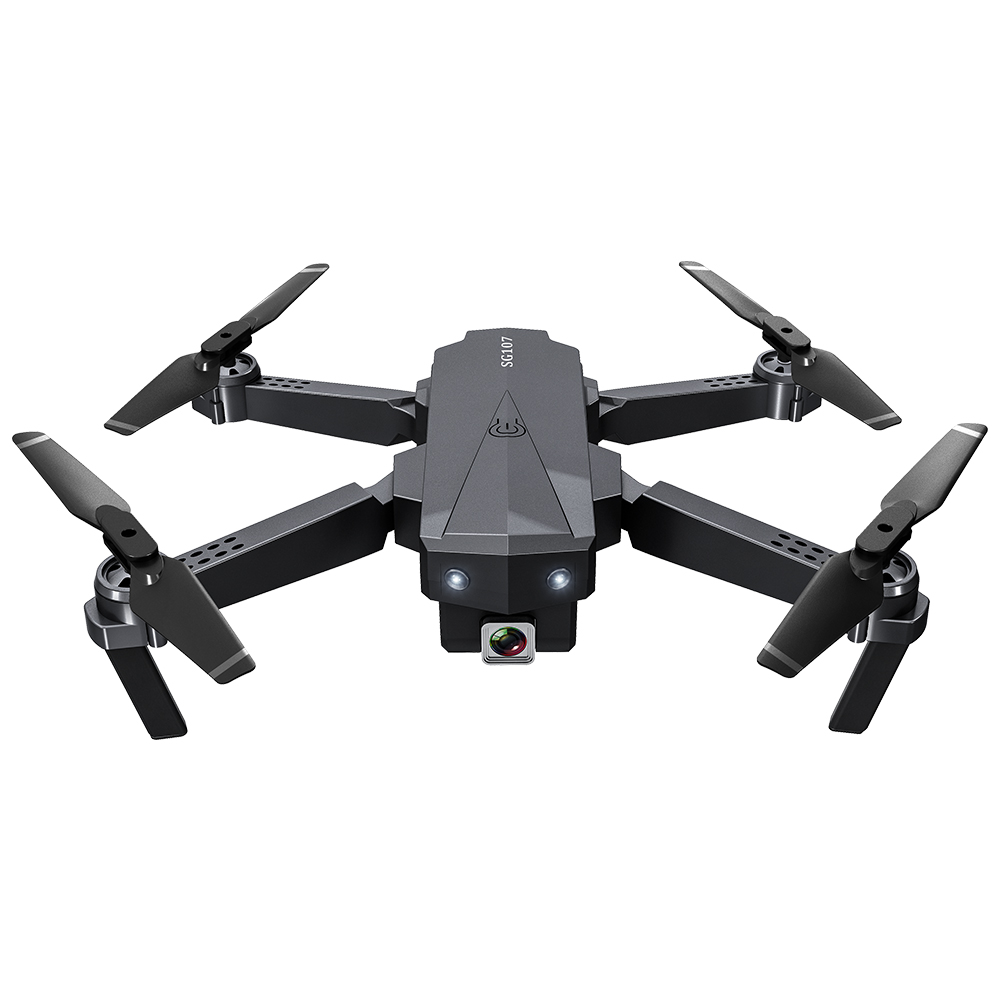 SG107 מיני מתקפל Selfie Drone עם 4K WIFI FPV HD Dual מצלמה Quadcopter אופטי זרימת Rc Dron מחווה שליטה ילדים צעצוע