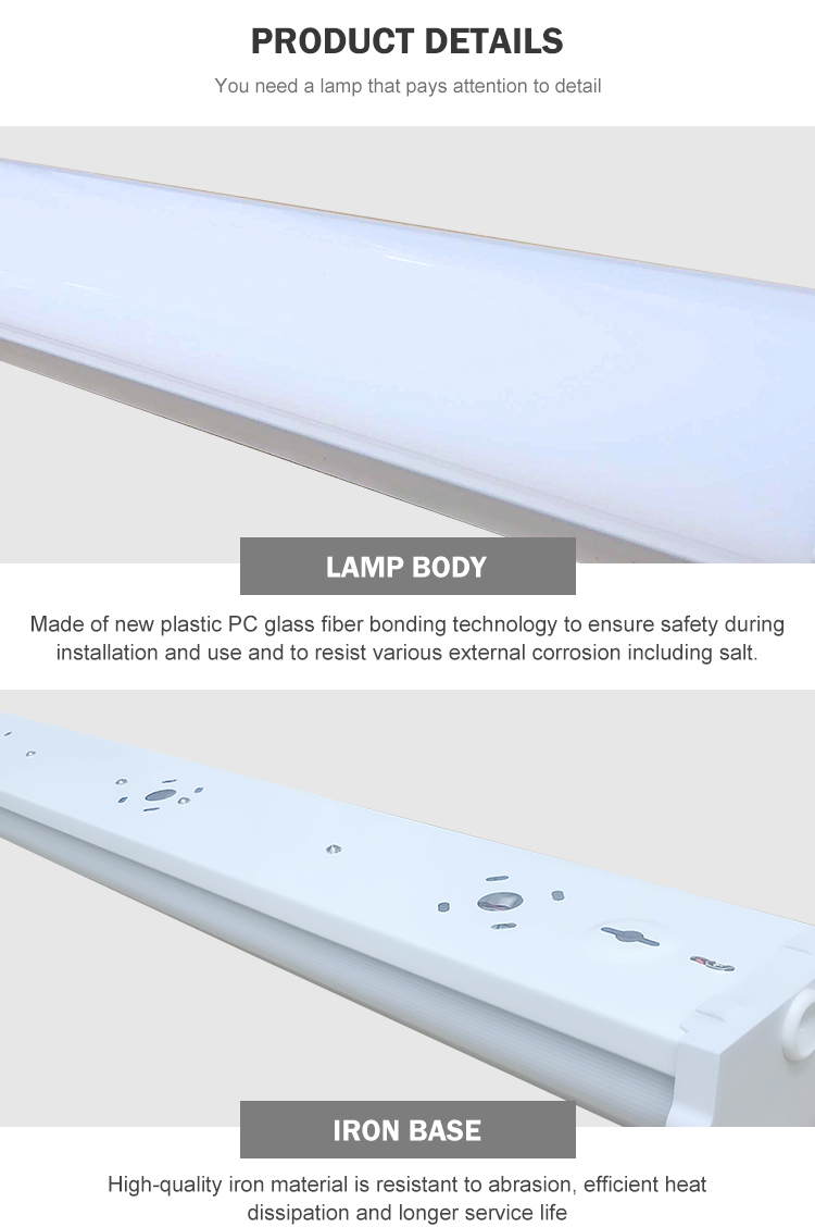Low power smd 20 30 40 50 60 80 watt linear led strip batten light