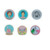 Blank icon backpack colorful wreath enamel crimp brooch button nursing lapel pins holographic badge