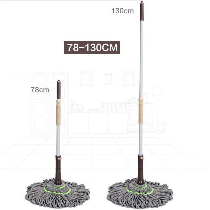 Boomjoy Floor wiper Telescopic handle microfiber industrial twister cotton mop