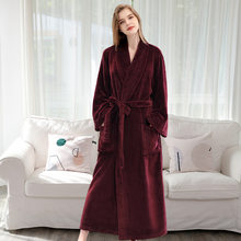 FZSLCYIYI мужской зимний клетчатый халат размера плюс, длинный фланелевый Халат, теплый фланелевый банный халат, кимоно, халаты, халат, ночная од...(Китай)