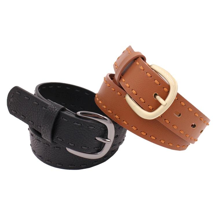 Designer Men Famous Brands PU Leather Belt for Jeans Silver Automatic Buckle Stylish Belts