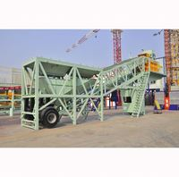 Mobile Concrete Batching Plant On Big Semi Trail Yhzs75 Portable Sales