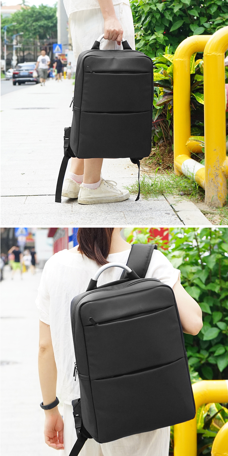 Logo customized factory large capacity backpack business backpack students backpack computer bag