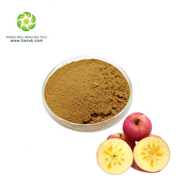 GMP factory supply Apple Schil P. e. /Apple Pell extract/Apple schil poeder/99% Phlorizin, Polyfenolen
