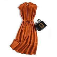 Корейские модные платья из натурального шелка; Vestido Noche Tallas Grandes; Длинные платья для выпускного вечера; Robe Longue Femme Ete Boh Mian; Новинка 2020 года(China)