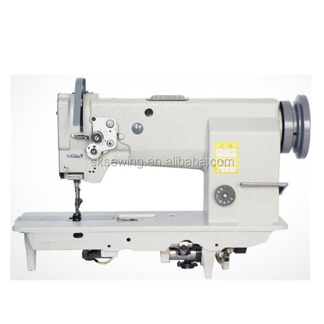single needle flat bed compound feed lockstitch leather sewing machine